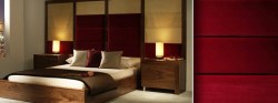 Dark Red Bedroom Headboard Bespoke Solutions | Email for Pricing